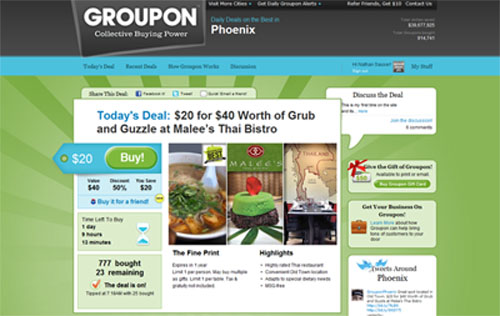 Getting my Groupon |