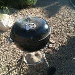 Weber Grill using the Smokenator
