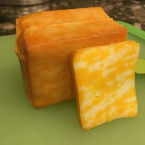 Smoked Colby Cheese on Big Green Egg