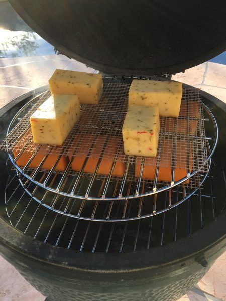 Smoking cheese on the Big Green Egg